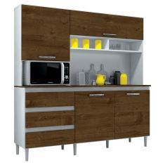 Cozinha Compacta 3 Gavetas 4 Portas para Micro-ondas / Forno Florença Incorplac