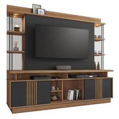 """Imagem de Home Esplendor para TV até 65"""" Jcm Móveis Cestaplus Noronha/Grafite"""