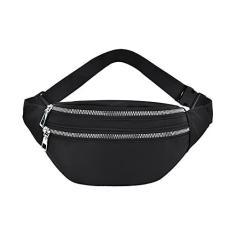 Imagem de enioysun Geestock pochete feminina moda pochete casual bolsa transversal peito unissex quadril bum bolsa de viagem cinto bolsa esportiva bolso ()