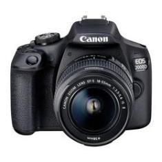 Imagem de Câmera Fotográfica EOS 2000D e Lente 18-55mm Canon