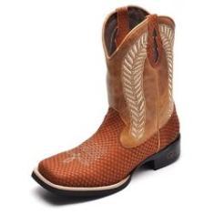 Imagem de Bota Country Masculina Bico Quadrado Top Franca Shoes Havana / Whisk