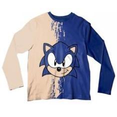 Imagem de Camiseta Adulto Sonic Bege e  ML