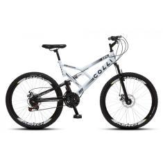 Bicicleta Mountain Bike Colli Bikes 21 Marchas Aro 26 Suspensão Full Suspension Freio a Disco Mecânico Full-S GPS 220