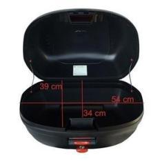 Imagem de Bau Moto Bauleto Givi 45 Litros 2 Capacetes Lente Fume Moto