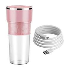 Imagem de KuCharm Liquidificador portátil de 400 ml, liquidificador pessoal, máquina de frutas, copo recarregável por USB