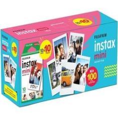 Imagem de Filme Instax Mini Kit Com 100 Fotos ISO 800 Fujifilm Instantâneo