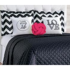 Imagem de Cobre Leito Casal Isabela Com Almofada Nó 8 Peças -  e Pink
