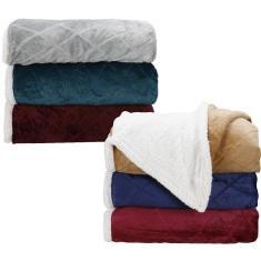 Imagem de Cobertor Solteiro Sherpa Duo - Casa & Conforto