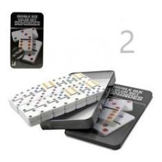 Imagem de 2 Jogo Domino Profissional Pesado Caixa Marcação Colorida