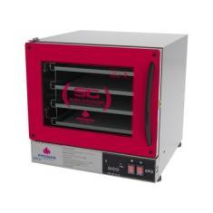 Forno Turbo Elétrico Fast Oven Prp-004 Plus Vermelho - Progas Digital 220V