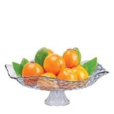 Imagem de Saladeira de Vidro com Pé 32cm Ruvolo Fruteira de Mesa Gourmet