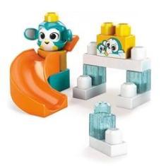 Imagem de Blocos de Montar - Mega Bloks - Peek A Blocks - Escorregador - Pandinha - Fisher-Price
