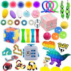 Imagem de 1-40pcs Fidget Toy Fidget Cube Cubo Mágico Spinning Top Brinquedo Educacional Aliviador de Estresse Novidade para Crianças Adultos 'Meninos' Meninas 'Plástico