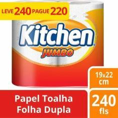 Imagem de Papel Toalha Kitchen Jumbo 8 Unidades Atacado Promoção