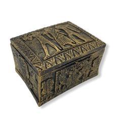 Imagem de Porta Joias Egípcio Baú  em Resina 8 cm