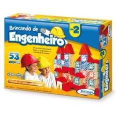 Imagem de Brinquedo Para Montar Brincando De Engenheiro2 53pcs Xalingo Unidade