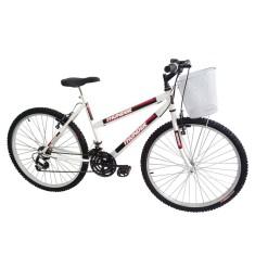 Bicicleta Track & Bikes 18 Marchas Aro 26 Freio V-Brake Thunder Feminina