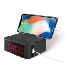 Imagem de Rádio Relógio Despertador Bluetooth Caixa De Som Mp3 Usb