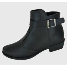 Imagem de Bota Moda Pé Ankle Boots  Fivela Moda Pé