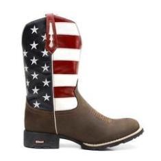 Imagem de Bota Masculina Texana Country Marrom Eua Flag 7mboots