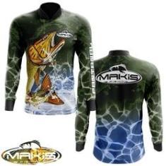 Imagem de Camisa De Pesca Proteção Solar Uv50 Makis Fishing  Serie Pantanal MK-17