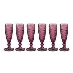 Imagem de Cj De 6 Taças Para Champanhe Bico De Abacaxi - Vinho - Incasa