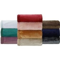 Imagem de Cobertor King Flannel Colors com Borda em Percal - Casa & Conforto