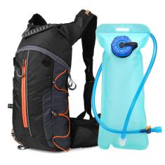Imagem de Mochila dobrável para ciclismo mochila leve para esportes ao ar livre e hidratação para bicicleta com bexiga d'água 2L