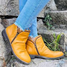 Imagem de PLAYH Ankle Boots Chelsea Vintage Classic Boots Flat Warm Ankle Boots Martin Boots Western Cowboy Boots (Cor: , Tamanho: 35)