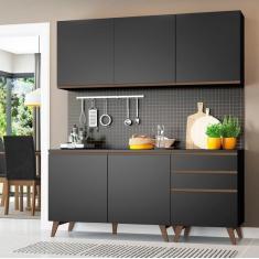 Cozinha Compacta 5 Portas 3 Gavetas Reims Madesa