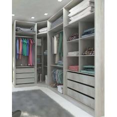 Imagem de Guarda-Roupa Closet 6 Gavetas Prime Luciane Móveis