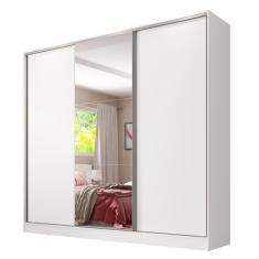 Guarda-Roupa Casal 3 Portas 4 Gavetas com Espelho Royale Madesa