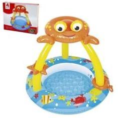 Imagem de Piscina Inflavel Infantil Coberta Siri Divertido Resistente Duravel Original Qualidade Bebes Criança