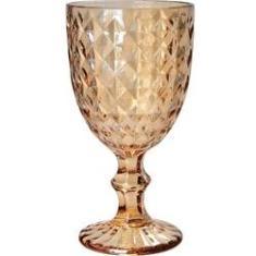 Imagem de Cj. 6 Taças de Vidro Sodo-Cálcico Roman Ambar Metalizado 220ml Bon Gourmet