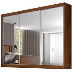 Imagem de Guarda-Roupa Casal com Espelho 3 Portas Gavetas Napoli 3E Europa Móveis