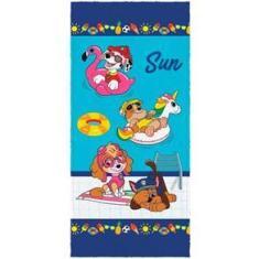 Imagem de Toalha de Banho Lepper Patrulha Canina Felpuda Infantil 0,60 x 1,20 m 061535