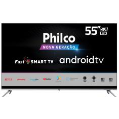 "Smart TV LED 55"" Philco 4K HDR PTV55G71AGBLS 4 HDMI"