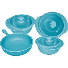 Imagem de Jogo de Panelas Oxford Cookware Cerâmica Linea Acqua 4 Peças