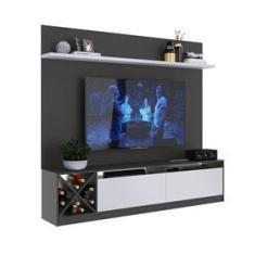 """Imagem de Painel Home para Tv 50"""" com 2 Portas Grafite e  Lilies Móveis"""