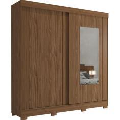Imagem de Guarda-Roupa Casal com Espelho 2 Portas 3 Gavetas Ilhéus Pés Panan Móveis