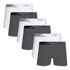Imagem de Kit Com 6 Cuecas Boxer Microfibra Sem Costura 436-088 - Lupo