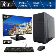 Imagem de Computador Completo Icc Intel Core I3 8Gb Hd 1Tb Dvd Monitor 19 Windows 10