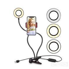 Imagem de Iluminador Ring Light Suporte Articulado De Mesa Live Stream Para Celular Smartphone Com Controle
