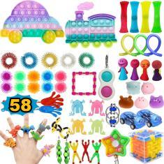 Imagem de Pop It Push Pop Bubble Fidget Toys Kit 1/4/58PCS Rainbow Pione