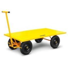 Imagem de Carrinho Plataforma Para Transporte De Carga 600kg Vonder Aço Carbono E Chapa Metalica