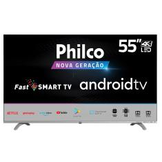 "Smart TV LED 55"" Philco 4K PTV55Q20AGBLS 3 HDMI"