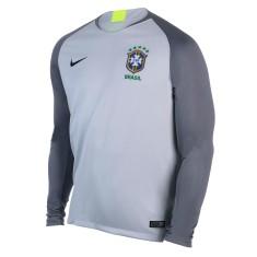 Camisa Manga Longa Brasil 2018 19 sem Número Goleiro Masculino Nike 5fded3052f4ff