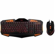 Imagem de KIT Teclado Led 3 cores E Mouse Gamer 4000 DPI cabo reforçado  OEX GEAR TM301