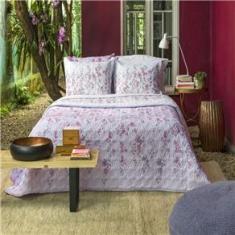 Imagem de Kit cobreleito casal linha Home Design 150 fios estampa Isa - Santista