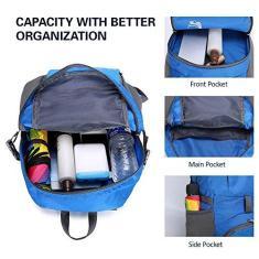 Imagem de Mochila, Romacci Mochila leve de nylon dobrável mochila resistente à água bolsa dobrável masculina feminina mochila para acampamento de viagem e caminhadas